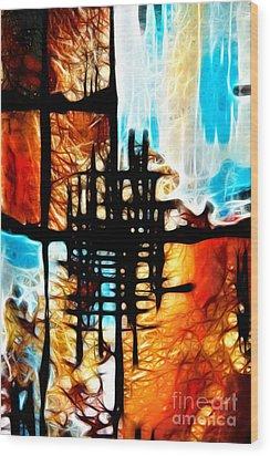 Tequila Sunrise Wood Print by Mariola Bitner