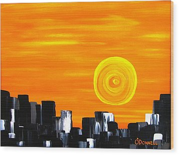 Tequila Sunset Wood Print by Stephen P ODonnell Sr