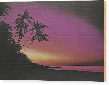 Tequilasunrise Wood Print by DC Decker