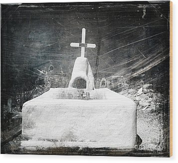 Terlingua Graves Wood Print by Sonja Quintero