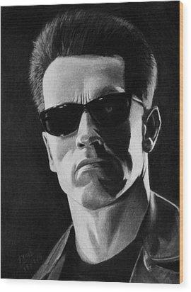 Terminator Wood Print