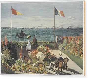 Terrace At Sainte-andresse Wood Print by Claude Monet