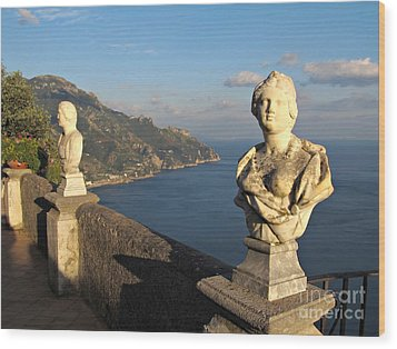 Terrace Of Infinity In Ravello On Amalfi Coast Wood Print by Kiril Stanchev