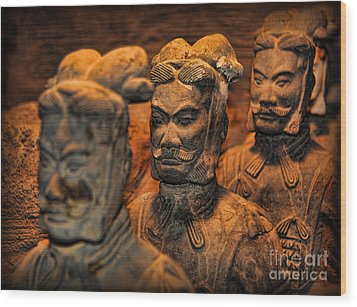 Terracotta Warriors - The Emperor's Army Wood Print by Lee Dos Santos