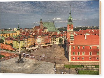 Terrific Warsaw - The Castle And Old Town View Wood Print by Julis Simo