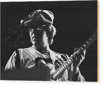 Terry Kath At The Cow Palace In 1976 Wood Print