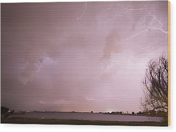 Terry Lake Lightning Thunderstorm Wood Print by James BO  Insogna