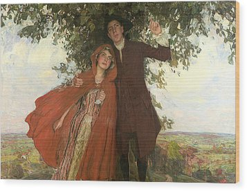 Tess Of The D'urbervilles Or The Elopement Wood Print by William Hatherell