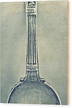 Silver Spoon Wood Print