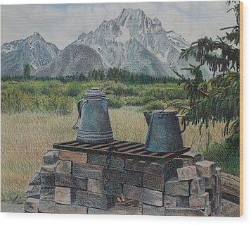 Teton Cook Site Wood Print