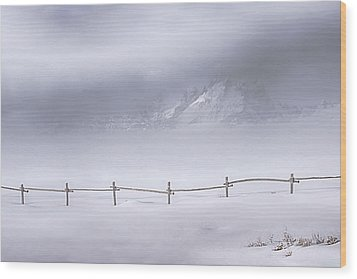 Teton Morning Wood Print by Priscilla Burgers