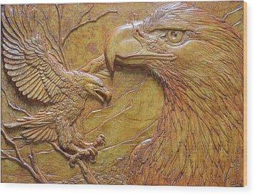 Teton Pair Wood Print by Jeremiah Welsh