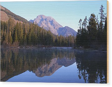 Teton Reflecions Wood Print