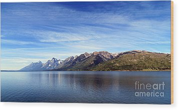 Tetons By The Lake Wood Print