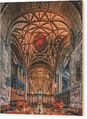Tewkesbury Abbey IIII Wood Print by Jack Torcello