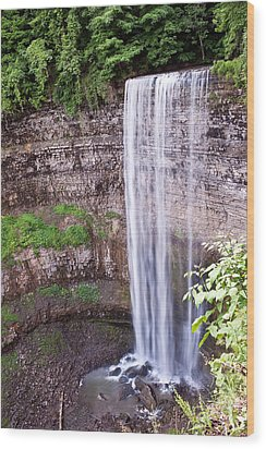 Wood Print featuring the photograph Tews Falls In Dundas Ontario by Marek Poplawski