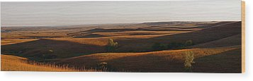 Texaco Hill Sunset Wood Print by Thomas Bomstad