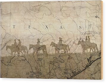 Texas And The Army Wood Print by Suzanne Powers