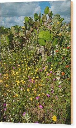 Texas Bouquet Wood Print
