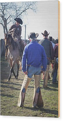 Texas Cowboy Wood Print