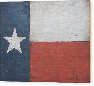 Texas Flag Wood Print