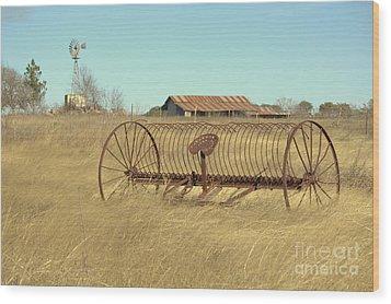 Texas Hill Country Farmscape Wood Print by Joe Jake Pratt