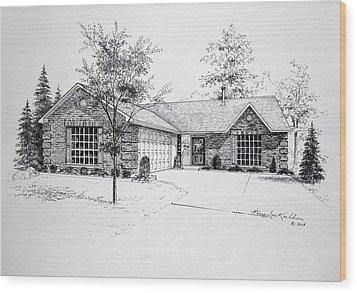 Texas Home 1 Wood Print by Hanne Lore Koehler