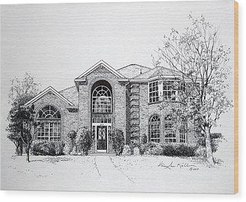 Texas Home 2 Wood Print by Hanne Lore Koehler
