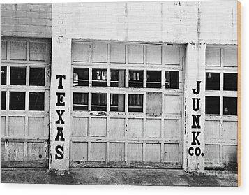 Texas Junk Co. Wood Print by Scott Pellegrin