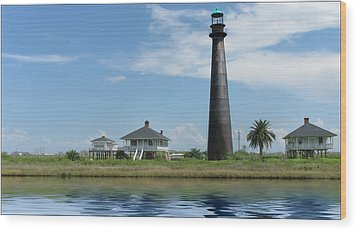 Wood Print featuring the photograph Texas Lighthouse by Cecil Fuselier