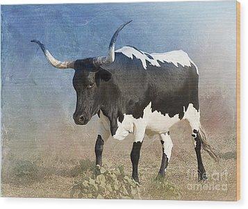 Texas Longhorn #7 Wood Print by Betty LaRue