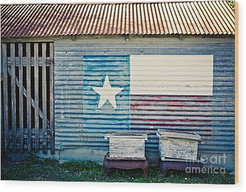 Texas Love Wood Print by Will Cardoso