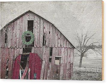 Texas Manger Wood Print by Elena Nosyreva
