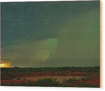 Wood Print featuring the photograph Texas Microburst by Ed Sweeney