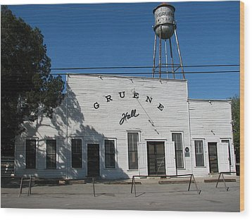 Texas Oldest Dance Hall Wood Print