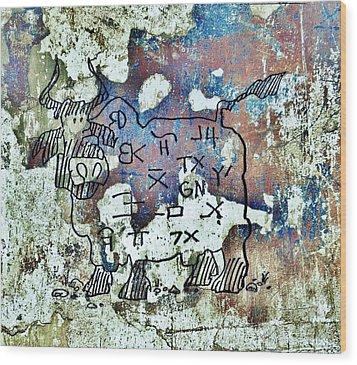Texas Petroglyph Wood Print