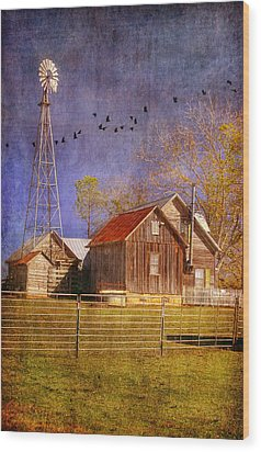 Texas Ranch Wood Print