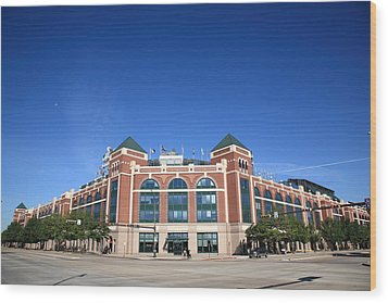 Texas Rangers Ballpark In Arlington Wood Print by Frank Romeo