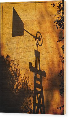 Texas Shadows Wood Print