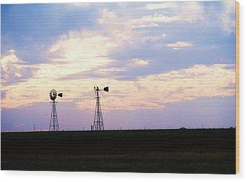 Texas Sky Wood Print