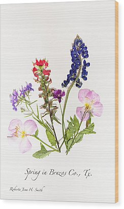 Texas Spring Flowers Wood Print