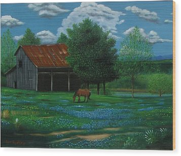 Texas Spring  Wood Print by Gene Gregory