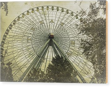 Texas Star Old Fashioned Fun Wood Print by Joan Carroll