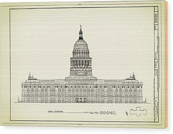 Texas State Capitol Architectural Design Wood Print