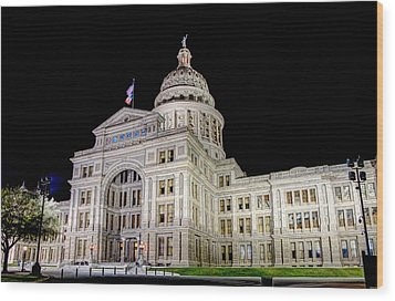 Texas State Capitol Wood Print by Tim Stanley