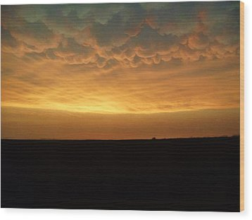 Wood Print featuring the photograph Texas Sunset by Ed Sweeney