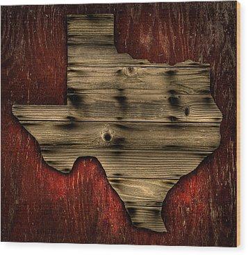 Texas Wood Wood Print by Darryl Dalton