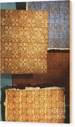 Textile1 Wood Print