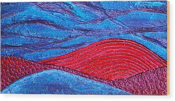 Texture And Color Bas-relief Sculpture #2 Wood Print