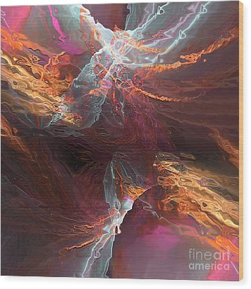 Texture Splash Wood Print by Margie Chapman